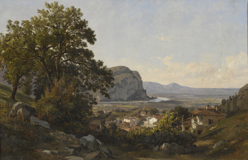 Village in the Auvergne, France by Léon François Antoine Fleury (French, 1804 - 1858)