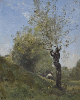 Planque, près Douai, painted in May 1871 by Jean-Baptiste-Camille Corot (French, 1796 - 1875)