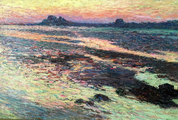 Rochers sur la mer (Rocky shore) by Henri Martin (French, 1860 - 1943)