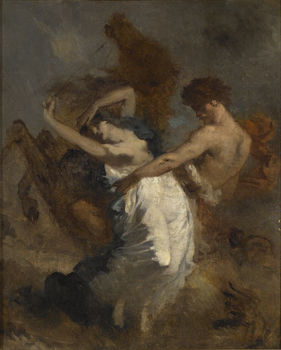 Abduction of the Sabine Woman, ca. 1844-47 by Jean-François Millet (French, 1814 - 1875)