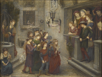 A May Feast at the house of Folco Portinari, 1274, 1887 by Marie Spartali-Stillman (British, 1844 - 1927)