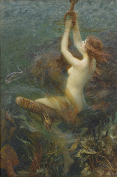 A Fantasy of the Deep, 1903 by Arthur Hopkins (British, 1848 - 1930)