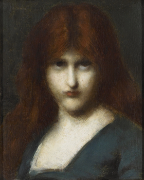 Portrait of a woman by Jean-Jacques Henner (French, 1829 - 1905)