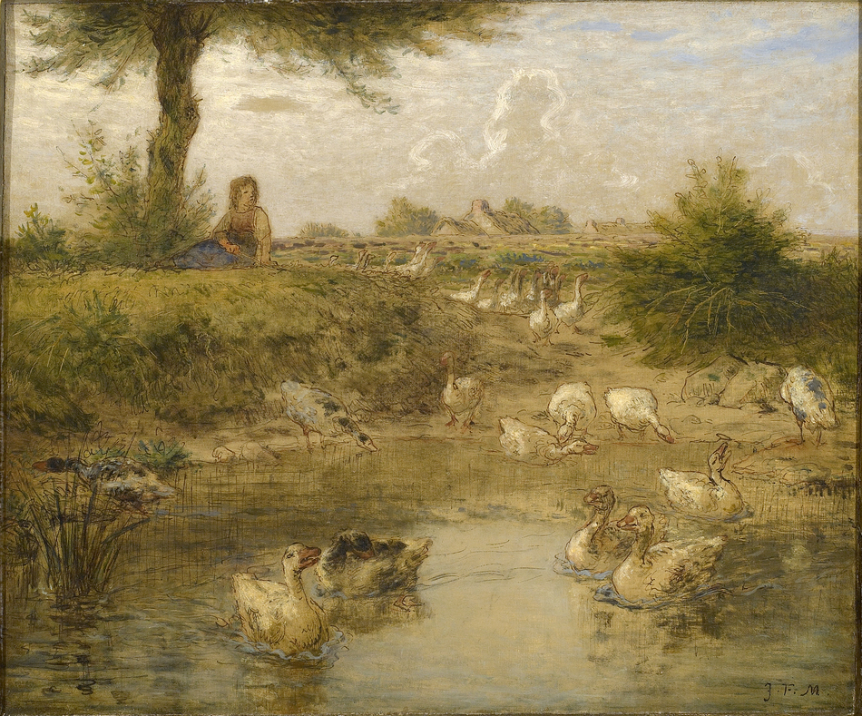 The Goose Girl (La Petite Gardeuse d'Oise), ca.1867-1870 by Jean-François Millet (French, 1814 - 1875)