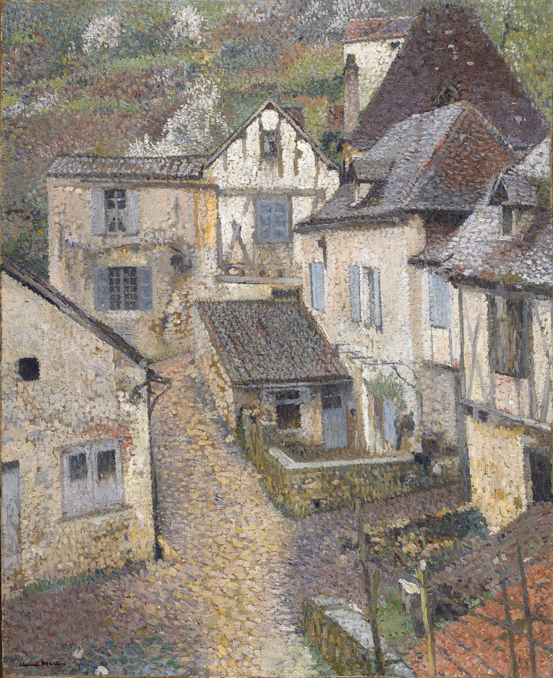 Saint-Cirq-Lapopie, View from the Artist's Studio, Circa 1930 by Henri Martin (French, 1860 - 1943)