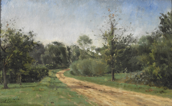 The Sunlit Road by Stanislas Victor Edouard Lépine (French, 1835 - 1892)