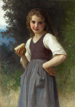 Le Goûter aux Champs, 1891 by William Adolphe Bouguereau (French, 1825 - 1905)