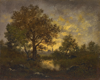 End of the Day by Pierre Étienne Théodore Rousseau (French, 1812 - 1867)