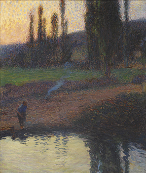 Femme au Bord d'une Riviere by Henri Martin (French, 1860 - 1943)