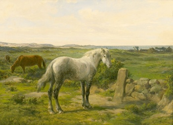 Horses near the Seaside (Chevaux en bord de mer) by Rosa Bonheur (French, 1822 - 1899)