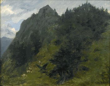 Sheep Grazing on a Hillside in the Pyrenees by Rosa Bonheur (French, 1822 - 1899)