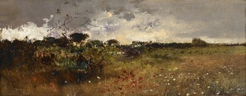 Heath Landscape by Salvador Sanchez Barbudo (Spanish, 1857 - 1917)