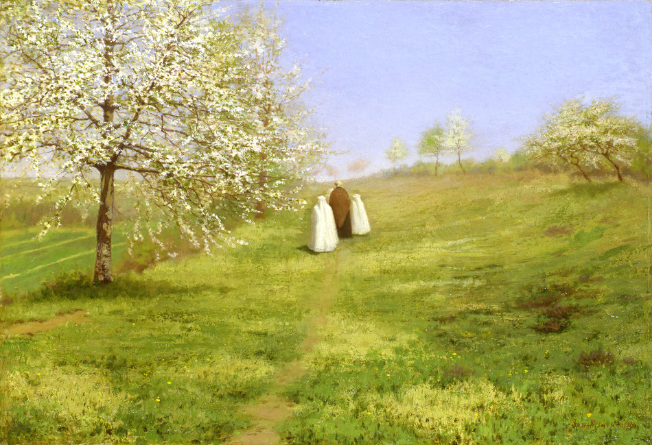 Flowering Trees, The Communicants by Jean Ferdinand Monchablon (French, 1855 - 1904)