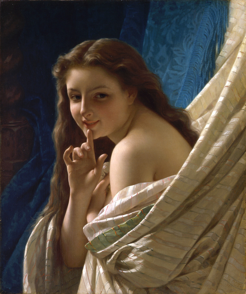 Portrait of a Young Woman, 1869 by Pierre-Auguste Cot (French, 1837 - 1883)