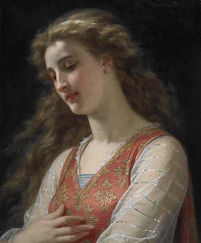 Contemplation, 1879 by Hugues Merle (French, 1823 - 1881)
