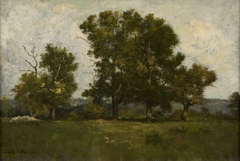 Les Arbres à Barbizon by Léon Richet (French, 1847 - 1907)